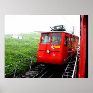 Mount Pilatus cog railway in Switzerland Posters