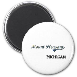Mount Pleasant Michigan City Classic 2 Inch Round Magnet