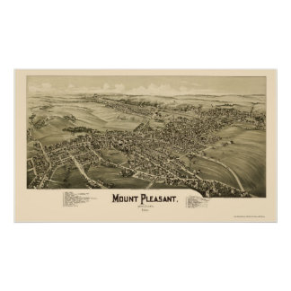 Mount Pleasant, PA Panoramic Map - 1900 Poster