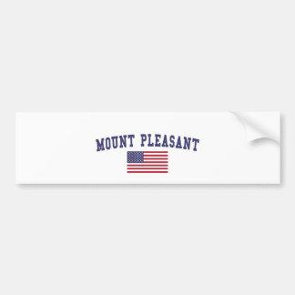 Mount Pleasant US Flag Bumper Sticker