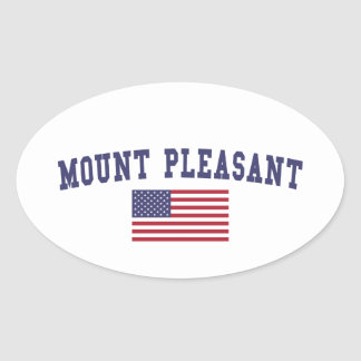 Mount Pleasant US Flag Oval Sticker