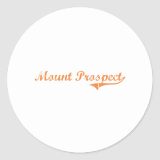 Mount Prospect Illinois Classic Design Classic Round Sticker