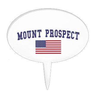 Mount Prospect US Flag Cake Topper