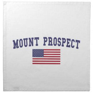 Mount Prospect US Flag Cloth Napkin