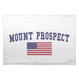 Mount Prospect US Flag Cloth Placemat