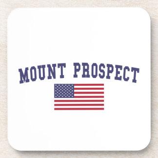 Mount Prospect US Flag Coaster
