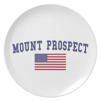 Mount Prospect US Flag Dinner Plate