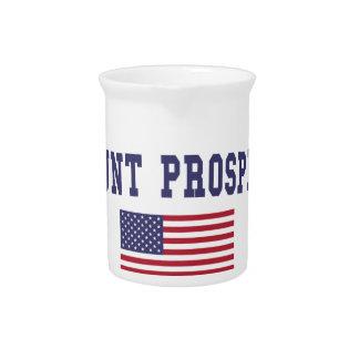 Mount Prospect US Flag Drink Pitcher