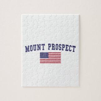Mount Prospect US Flag Jigsaw Puzzle