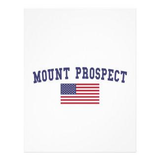 Mount Prospect US Flag Letterhead