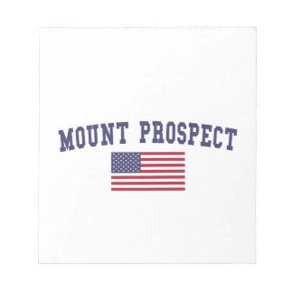 Mount Prospect US Flag Notepad