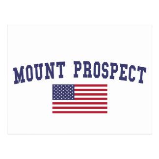 Mount Prospect US Flag Postcard