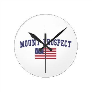 Mount Prospect US Flag Round Clock