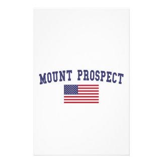Mount Prospect US Flag Stationery