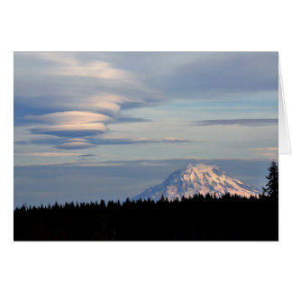 Mount Rainer with Lenticular Clouds Card