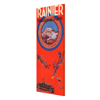 Mount Rainier Advertising Poster 2 Canvas Print