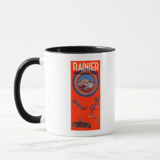 Mount Rainier Advertising Poster 2 Mug