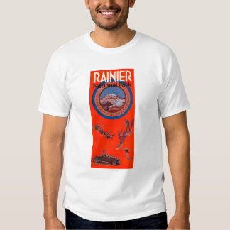 Mount Rainier Advertising Poster 2 T-Shirt