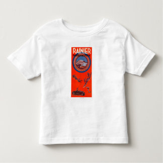 Mount Rainier Advertising Poster 2 Toddler T-shirt
