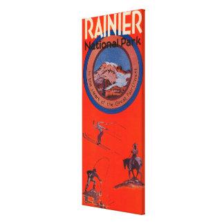 Mount Rainier Advertising Poster Canvas Print