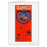 Mount Rainier Advertising Poster Greeting Card