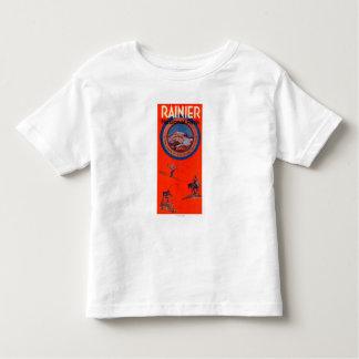 Mount Rainier Advertising Poster T Shirt