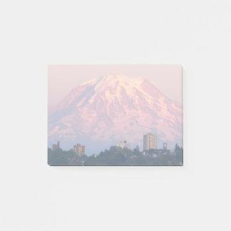 Mount Rainier Alpenglow Photo Post-it Notes