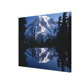 Mount Rainier and Blue Sky Perfectly Reflected 2 Canvas Print