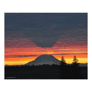 Mount Rainier and its Shadow in Large Format Photographic Print
