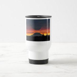 Mount Rainier and its Shadow 15 Oz Stainless Steel Travel Mug