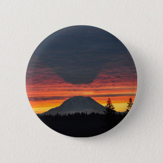 Mount Rainier and it's Shadow Pinback Button
