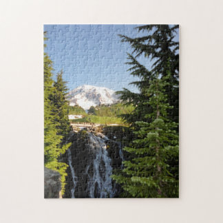 Mount Rainier and Waterfal puzzle