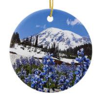Mount Rainier at Paradise Point Ceramic Ornament