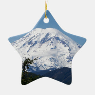 Mount Rainier Ceramic Ornament