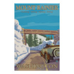 Mount Rainier - Chinook Pass Entrance Poster