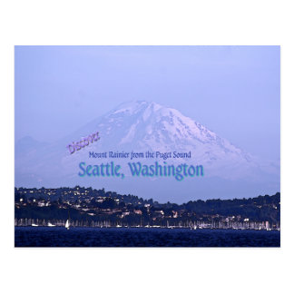 Mount Rainier from the Puget Sound Postcard