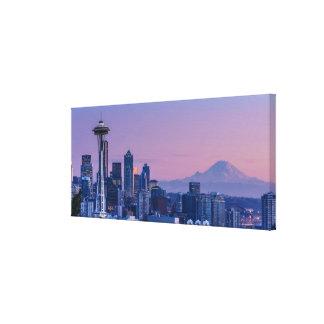 Mount Rainier in the background. Canvas Print