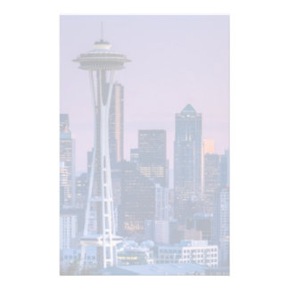 Mount Rainier in the background. Stationery