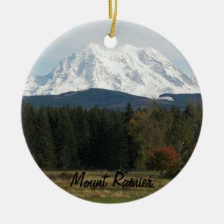 Mount Rainier Landscape Ceramic Ornament