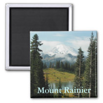 Mount Rainier Landscape Photo Magnet