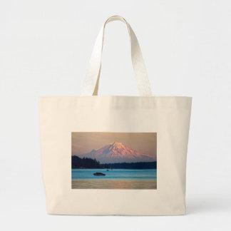 Mount Rainier Large Tote Bag