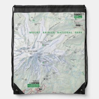 Mount Rainier map backpack