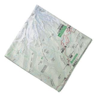 Mount Rainier map bandana