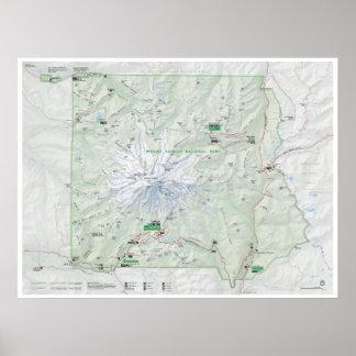 Mount Rainier map poster