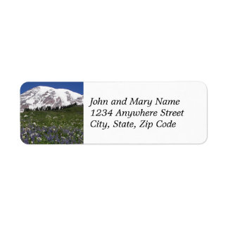 Mount Rainier Meadow Photo Return Address Labels