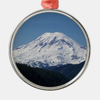 Mount Rainier Metal Ornament