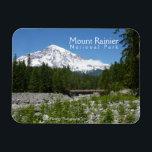"""Mount Rainier N.P. (Longmire) Magnet<br><div class=""""desc"""">Magnet featuring photo of Mount Rainier taken from Longmire.</div>"""