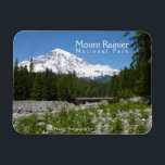 "Mount Rainier N.P. (Longmire) Magnet<br><div class=""desc"">Magnet featuring photo of Mount Rainier taken from Longmire.</div>"