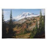 Mount Rainier National Park, autumn Cloth Placemat