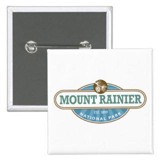 Mount Rainier National Park Pinback Buttons